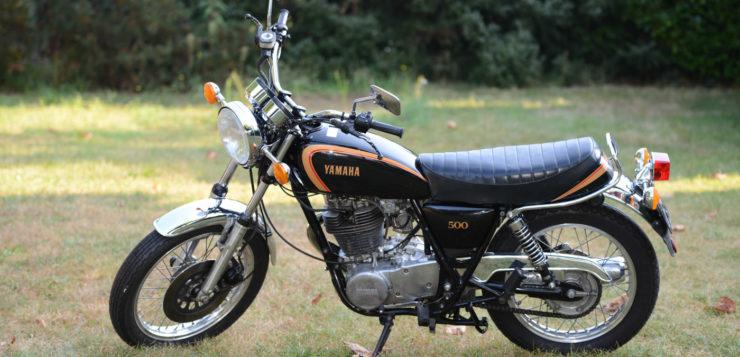 ... warb Yamaha damals vollmundig für die SR 500