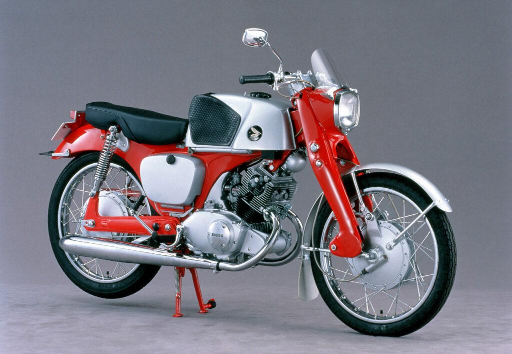 Honda CB 92 Super Sport in rot/silber aus dem Jahr 1959