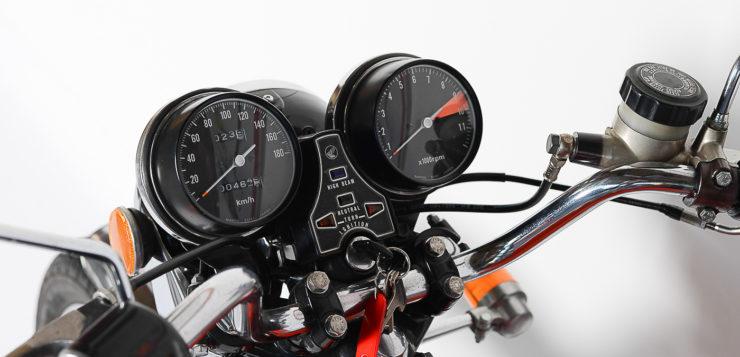 Bei der CB 500 T lag das Zündschloss im Cockpit