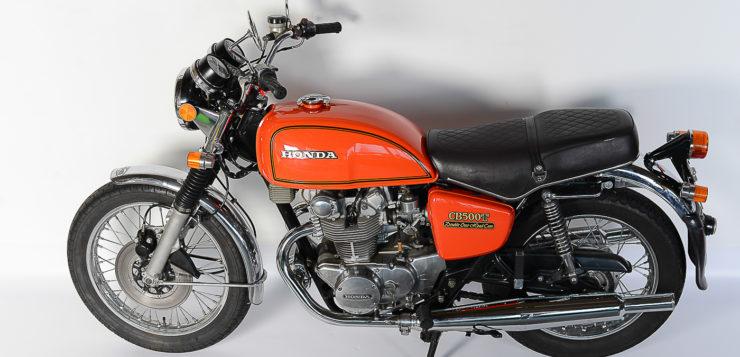 Die Honda CB 500 T trug eine deutliche Typenbezeichnung auf den Seitendeckeln