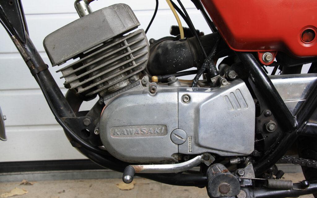 Das 6-Gang-Getriebe der Kawasaki KH 125 verdiente ein Lob
