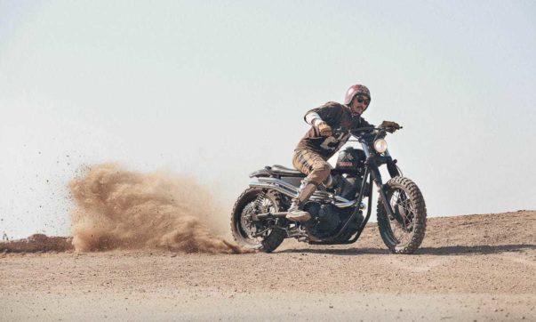 "Yamaha SCR950 ""Chequered Scrambler"""