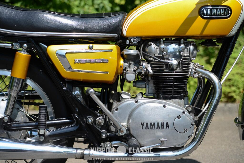 Der Parallel-Twin der Yamaha XS 1 wurde noch mit Muskelkraft zum Leben erweckt