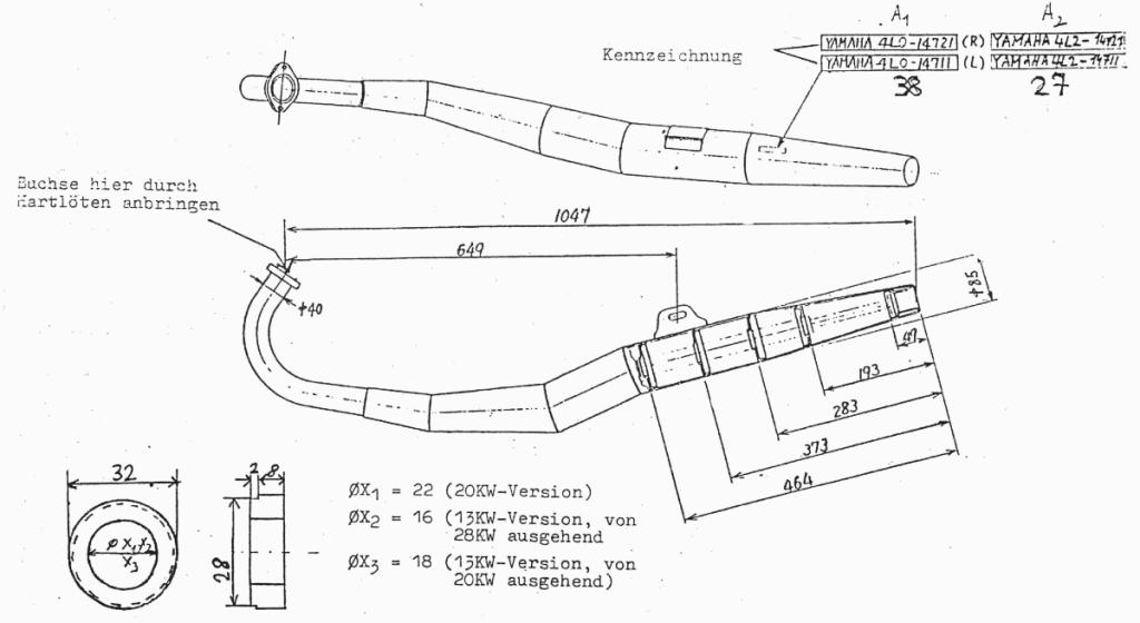 RD 250 LC Auspuffanlage
