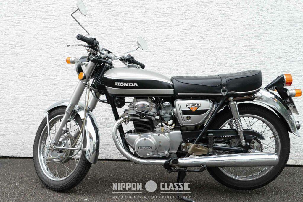 """Honda CB 350 K mit """"Schnapsglas""""-Blinkern"""