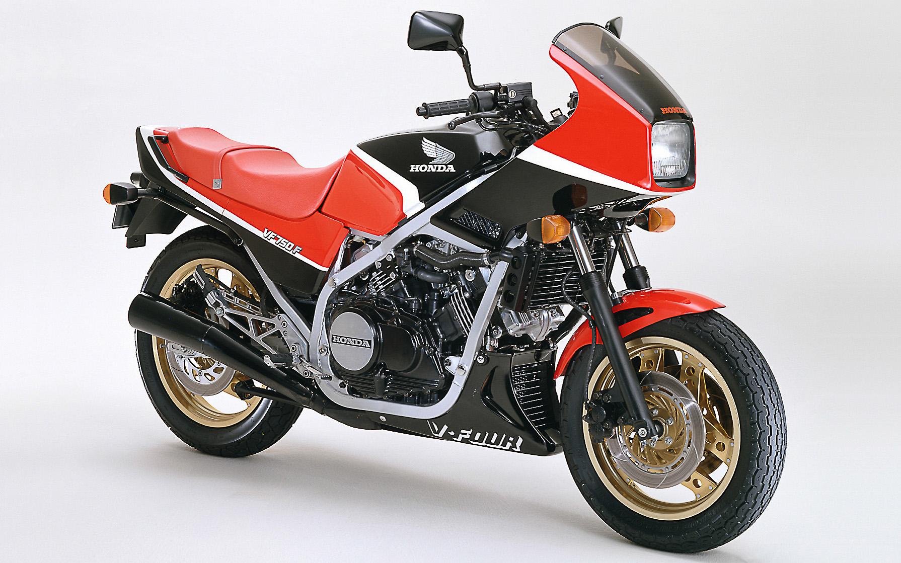 Die Honda VF 750 F gab es in drei Farbkombinationen