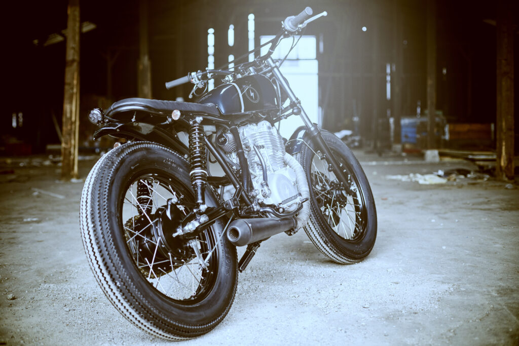 Der Yamaha SR 500 Scrambler wurde komplett zerlegt ...