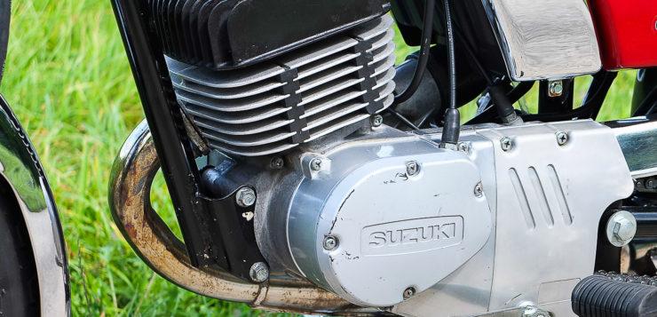 Der Motor der GP 125 ist als mittragendes Element ausgelegt