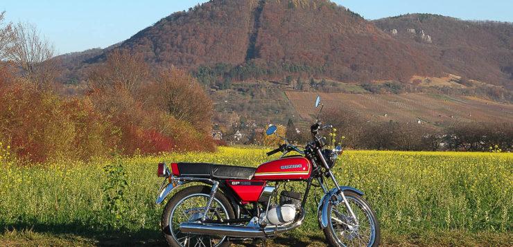 Ausfahrt mit der Suzuki GP 125