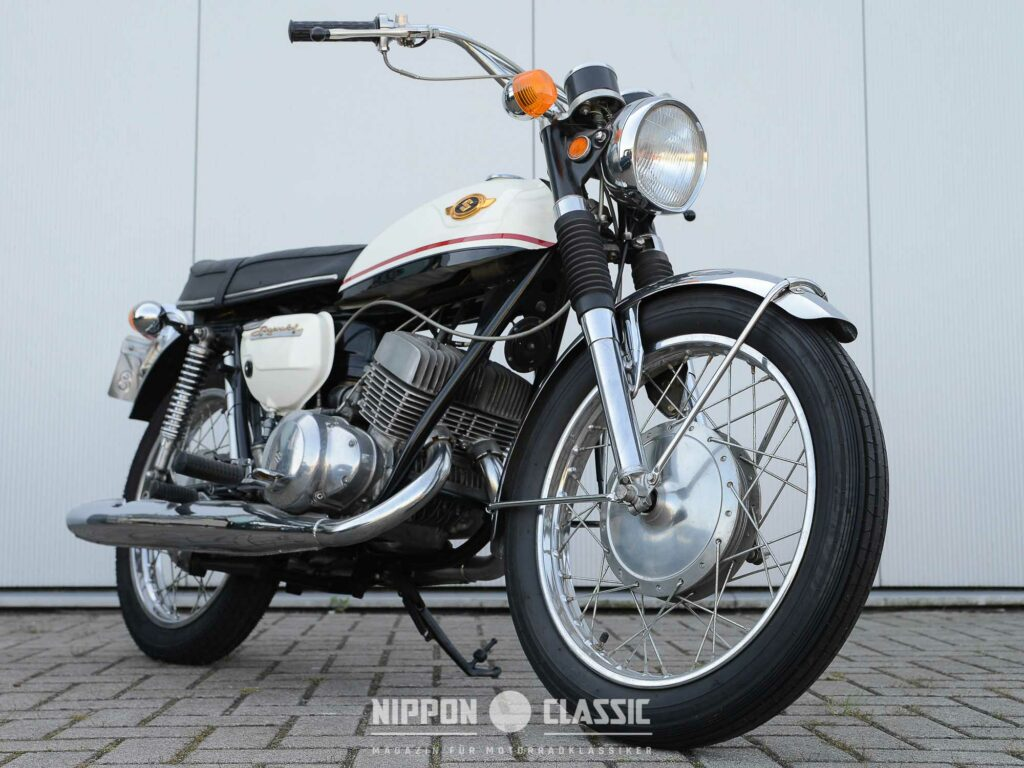 Toll restaurierte Suzuki T 350 von 1969