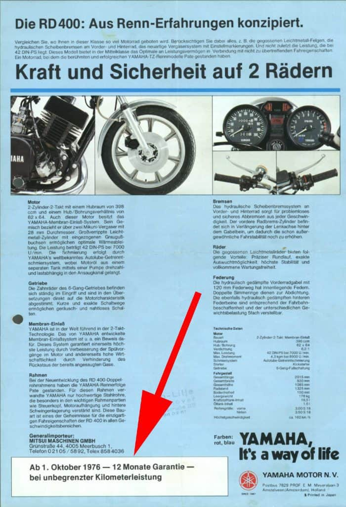 Yamaha RD-Baureihe