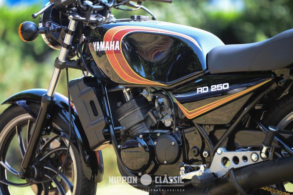 Der Motor der Yamaha RD 250 LC leistete 38 PS bei 8.500 U/min