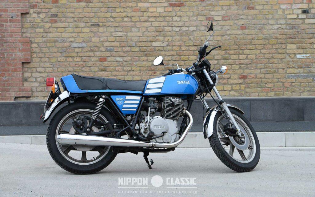 Die Ausgangsbasis: die Yamaha XS 360 wechselte für ein paar hundert Euro nach Wiesbaden
