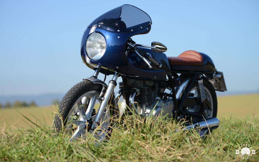 In den Umbau der Yamaha XS 360 investierte Jens einige Monate Zeit