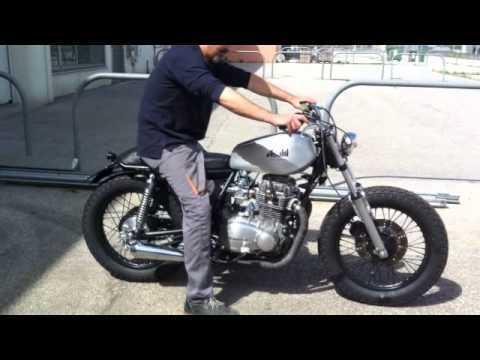 caf racer video kawasaki z 400 brat bike von not4all. Black Bedroom Furniture Sets. Home Design Ideas