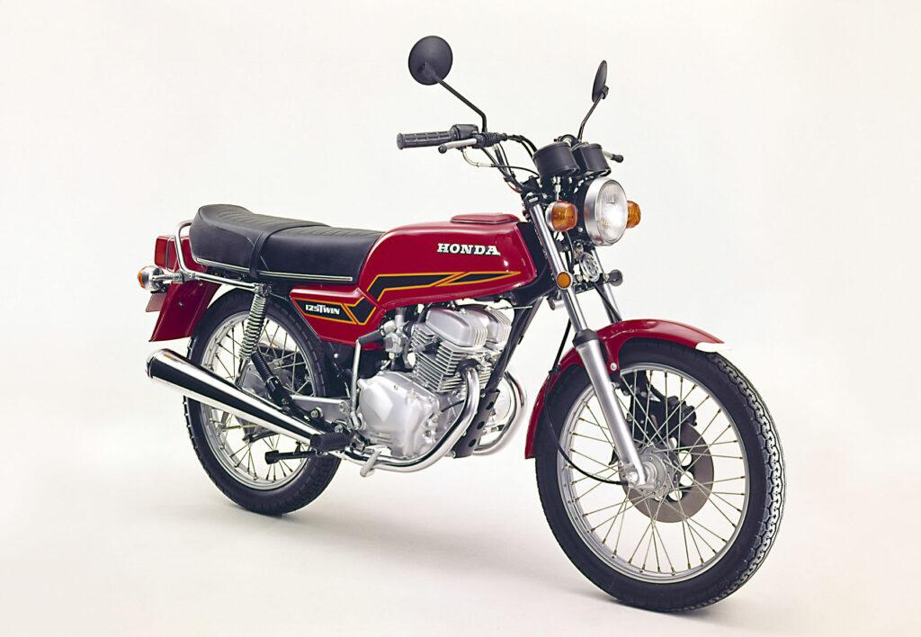 Honda CB 125 T mit mechanischer Scheibenbremse aus dem Jahr 1977