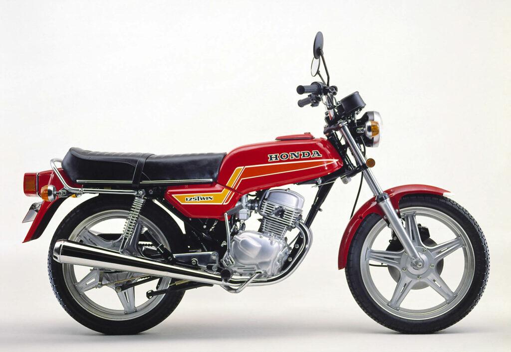 Ab 1979 bekam die Honda CB 125 T Comstar-Felgen spendiert