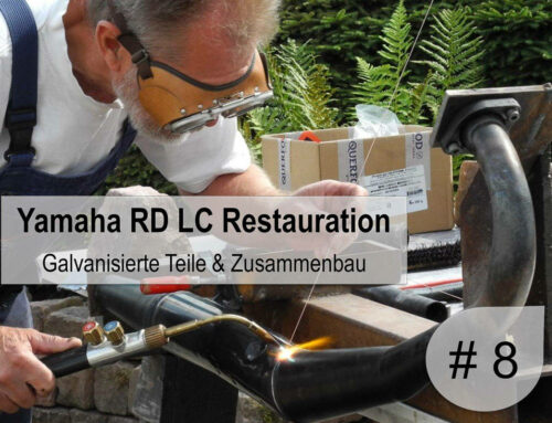 8. Teil Yamaha RD 350 LC Restaurierung – galvanisierte Teile