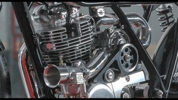 Yamaha SR400 Cafe Racer von Krugger