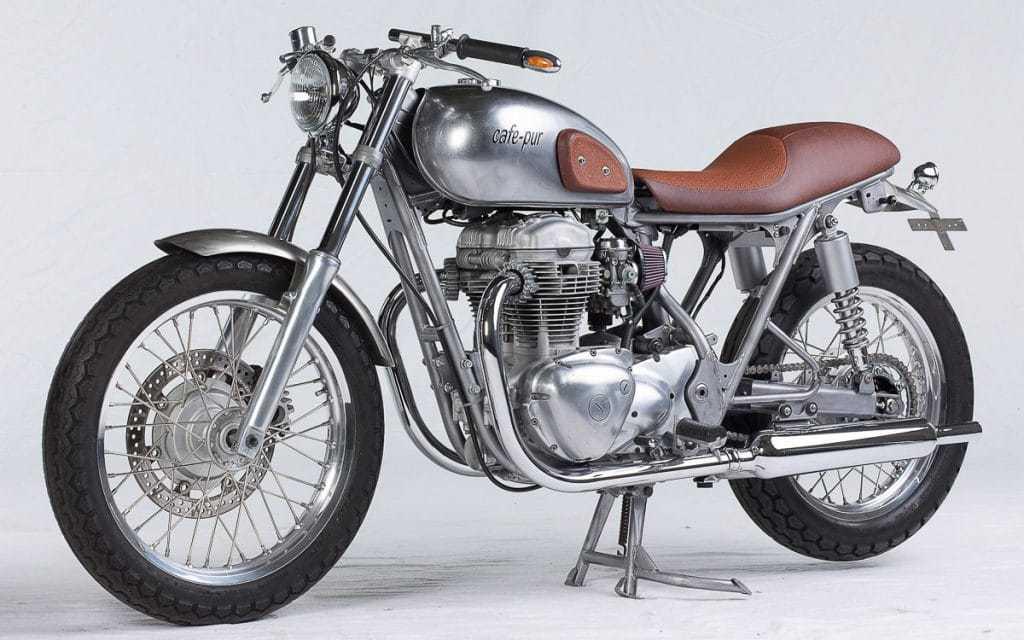 Kawasaki W650 Café Pur von Zweirad-Dötsch