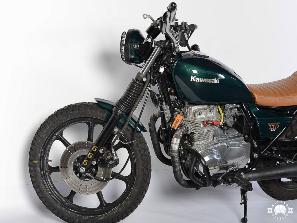 Der Scrambler entstand aus einer 1983'er Kawasaki Z 440 LTD