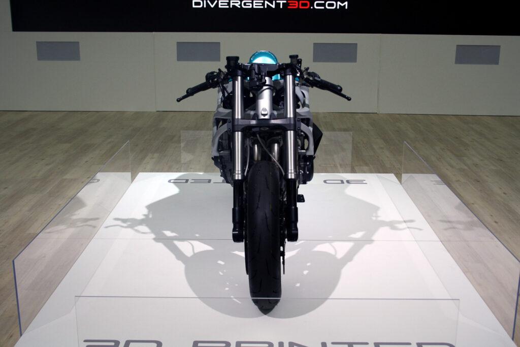 Der Motor stammt von Kawasaki, der Rahmen der Dagger kommt hingegen aus dem Drucker
