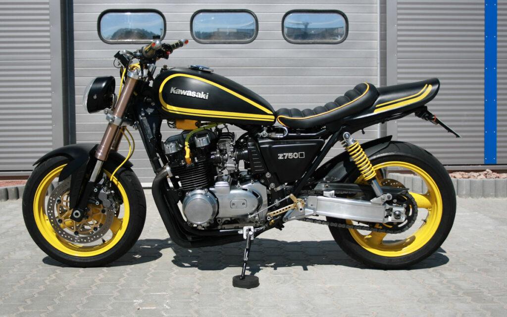 Kraftvolle Erscheinung: Kawasaki Z 750 E Racer Umbau