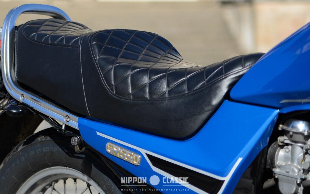 Die Suzuki GR 650 bot eine bequeme Sitzbank