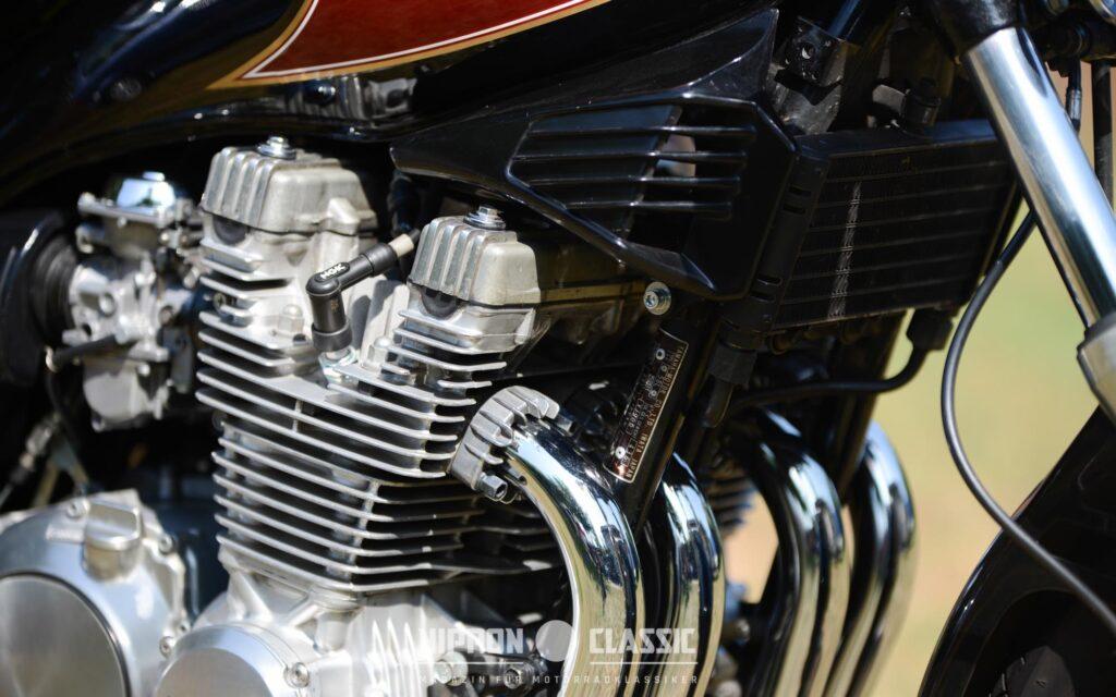Der luftgekühlte Motor besaß einen zusätzlichen Ölkühler