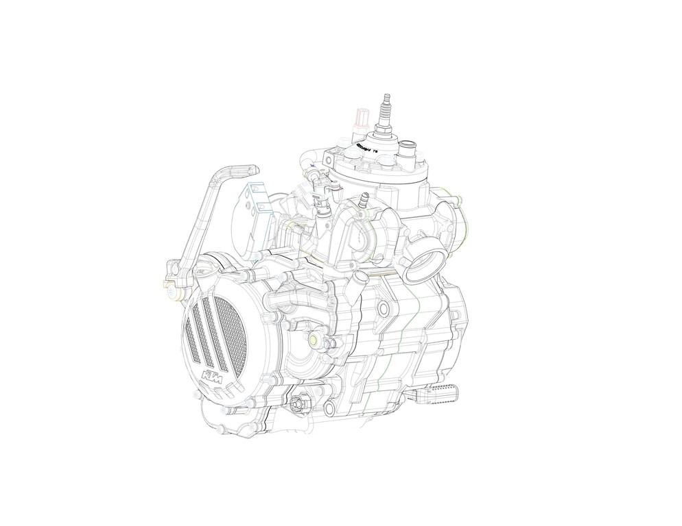 Zweitaktmotor mit Benzineinspritzung