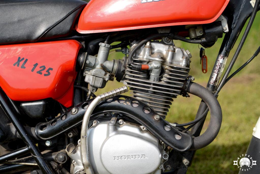 Die Honda XL 125 verfügte über ein Leistungsgewicht von ca. 7,9 Kg pro PS.