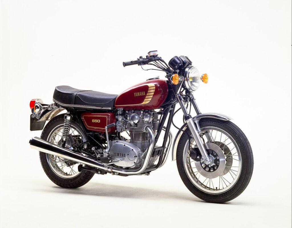 Die Yamaha XS 650 hatte im Gegensatz zur TX 650 zwei Bremsscheiben vorn