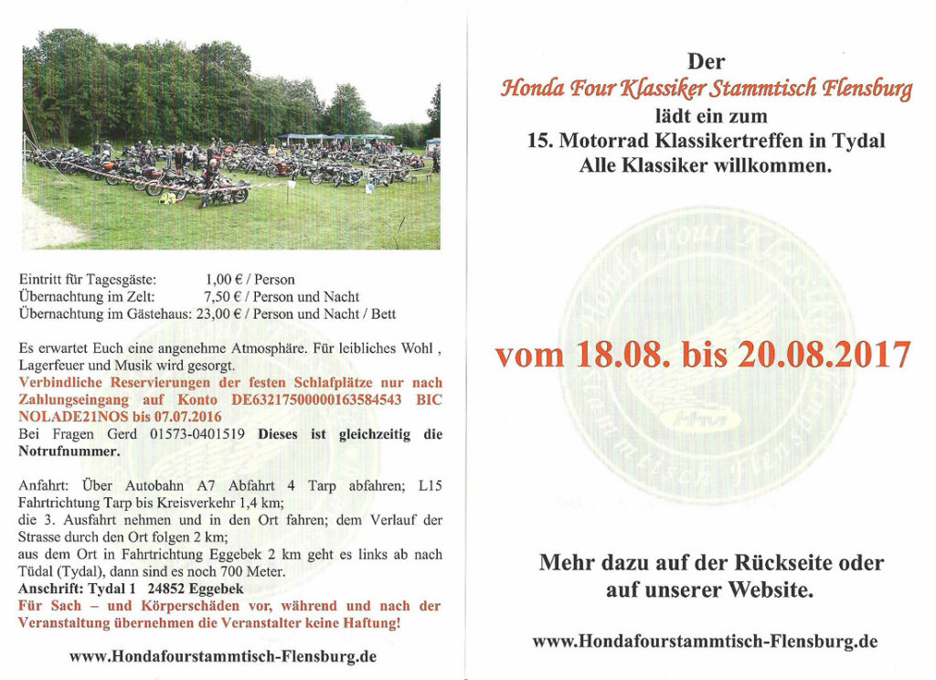 15. Motorradklassiker Treffen