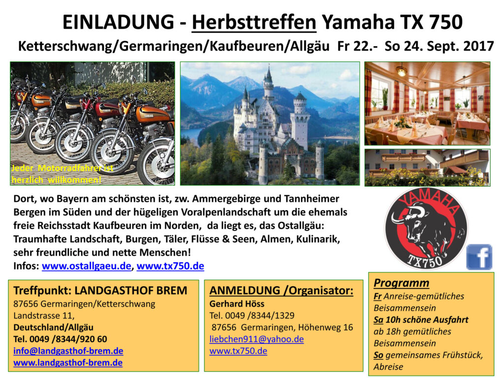 Yamaha TX 750 Herbsttreffen