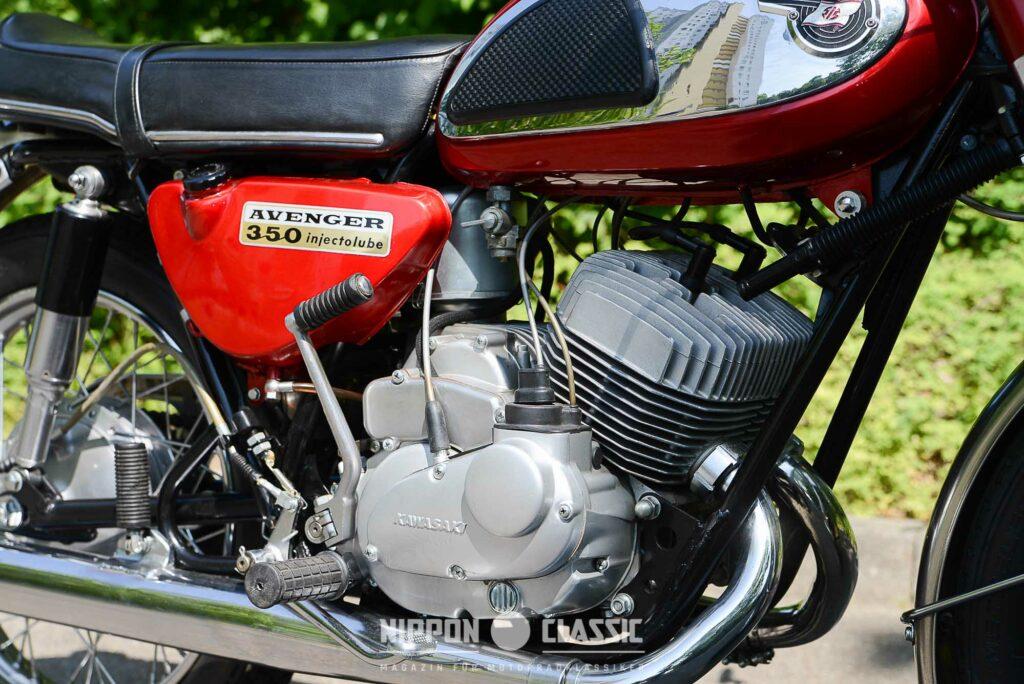 Der Drehschiebermotor der Kawasaki 350 A7 sorgte für rasante Beschleunigung