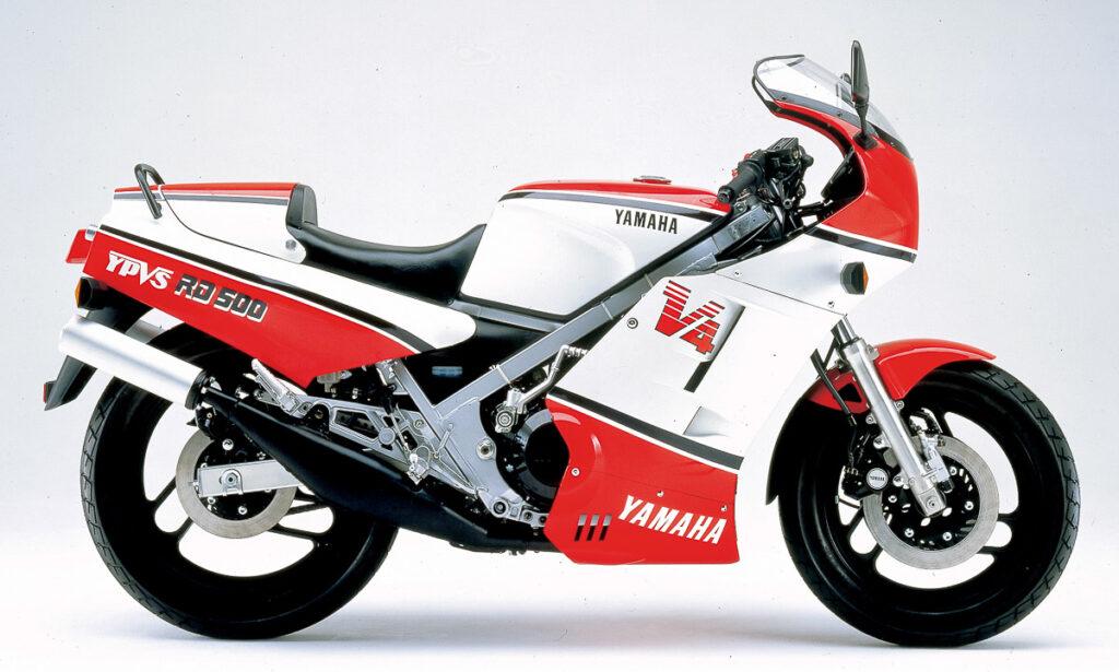 Die Rahmengeometrie der Yamaha RD 500 war auf Handlichkeit getrimmt