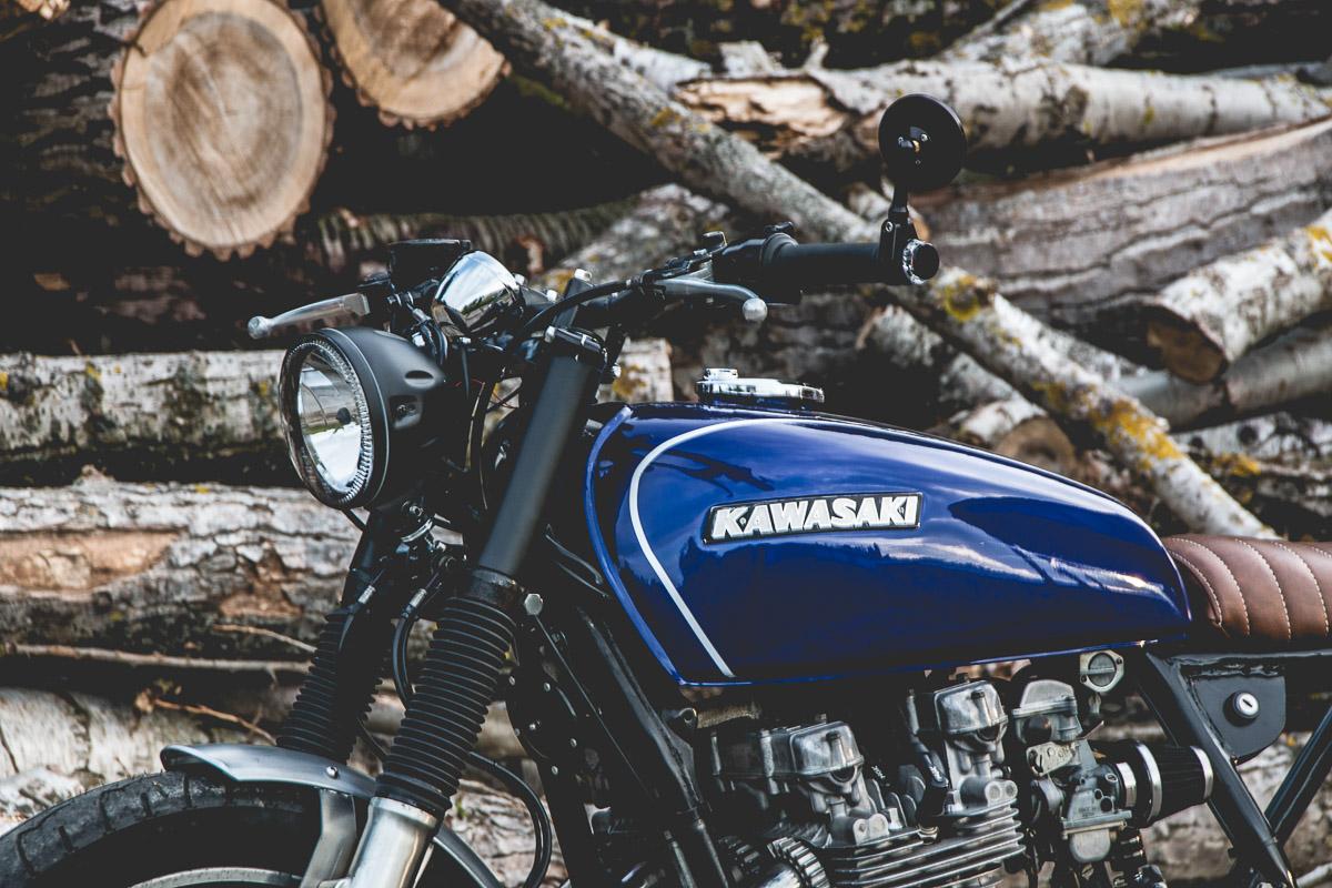 Custom Kawasaki Z 650 Einen LSL Lenker Und Acewell Tacho Foto Jimmy Dressel Kaspeed Moto
