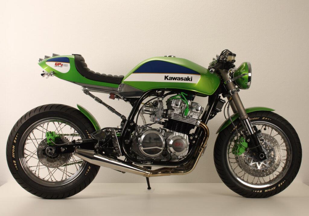 Als Basis diente eine Kawasaki GPZ 750 UT von 1985