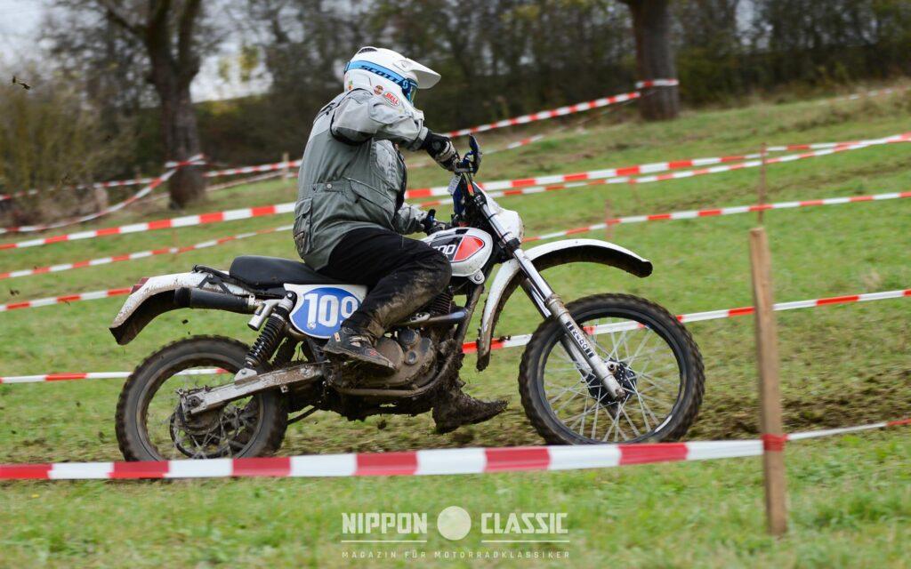 Hans-Heinrich Feller auf Yamaha XT 500 ist kein Unbekannter im Enduro-Motorsport