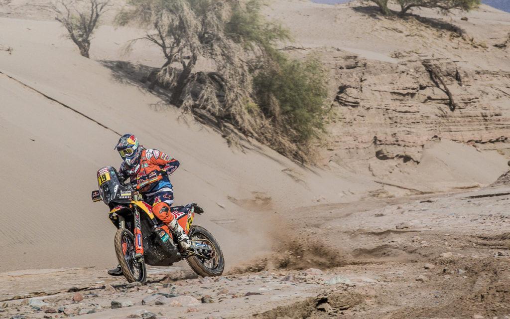 Antoine Meo (KTM) legte einen guten Start zur 10. Etappe der Dakar 2018 hin