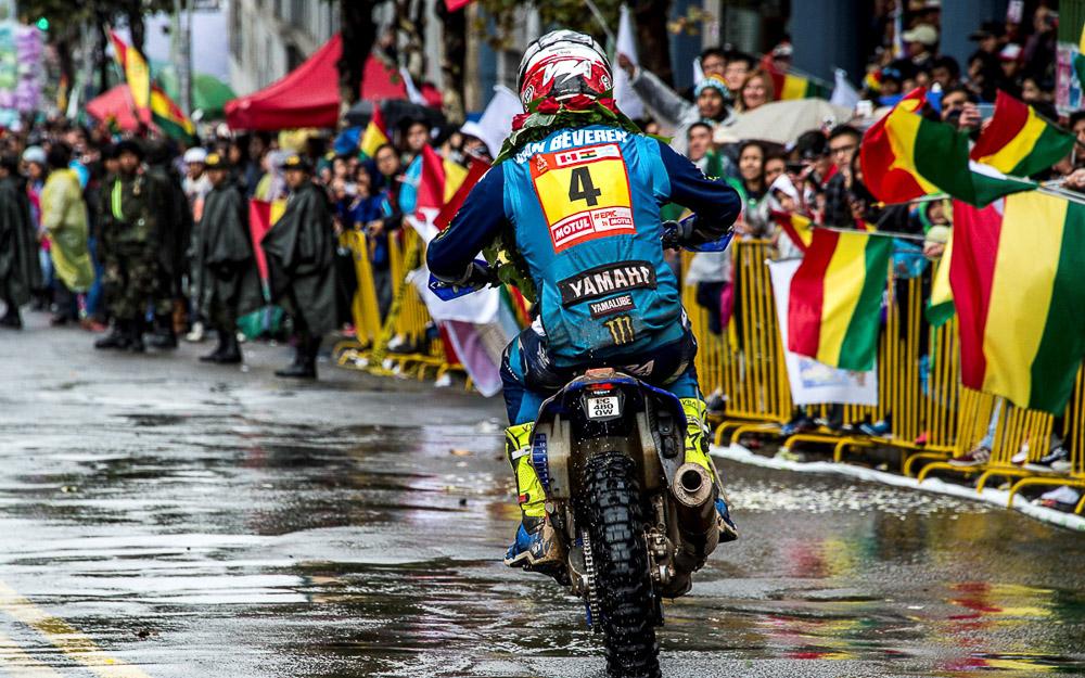 Adrien Van Beveren kommt nass in La Paz an