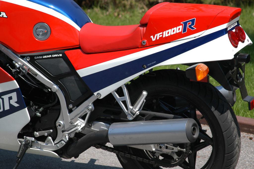 Die Honda VF 1000R leistete in Amerika bis zu 125 PS