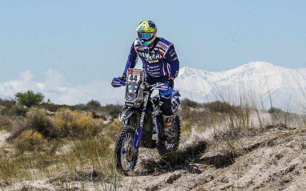 Rodney Faggotter hält die Yamaha-Fahne hoch