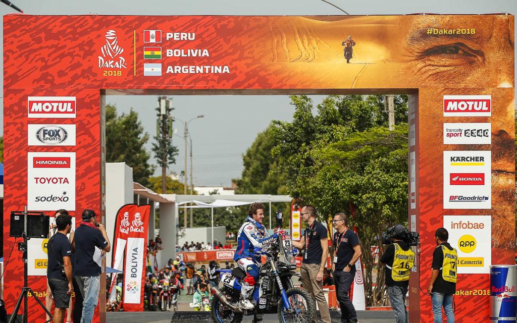 Alessandro Botturi auf seiner Yamaha WR450F Rally