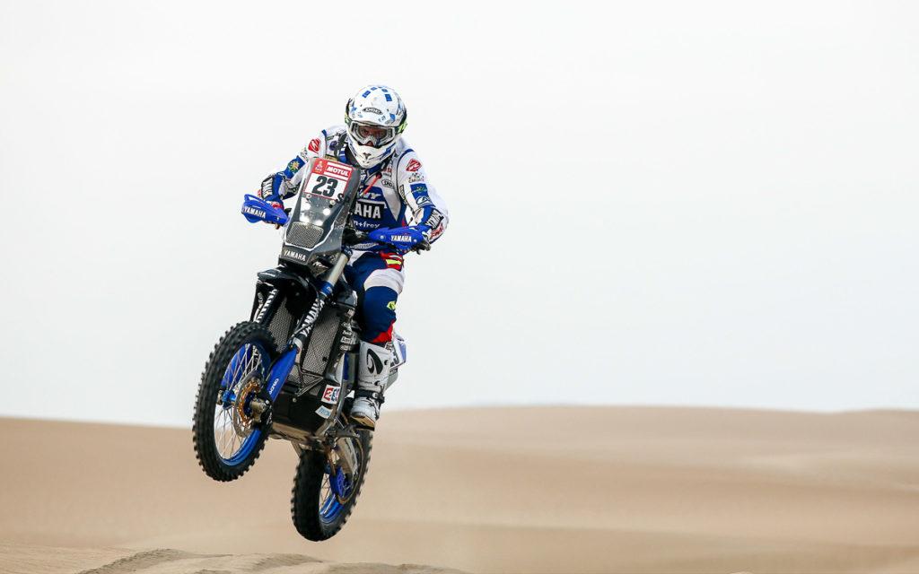 Platz 2 auf der. 4 Etappe der Dakar 2018 für Xavier de Soultrait vom Yamalube Yamaha Official Rally Team