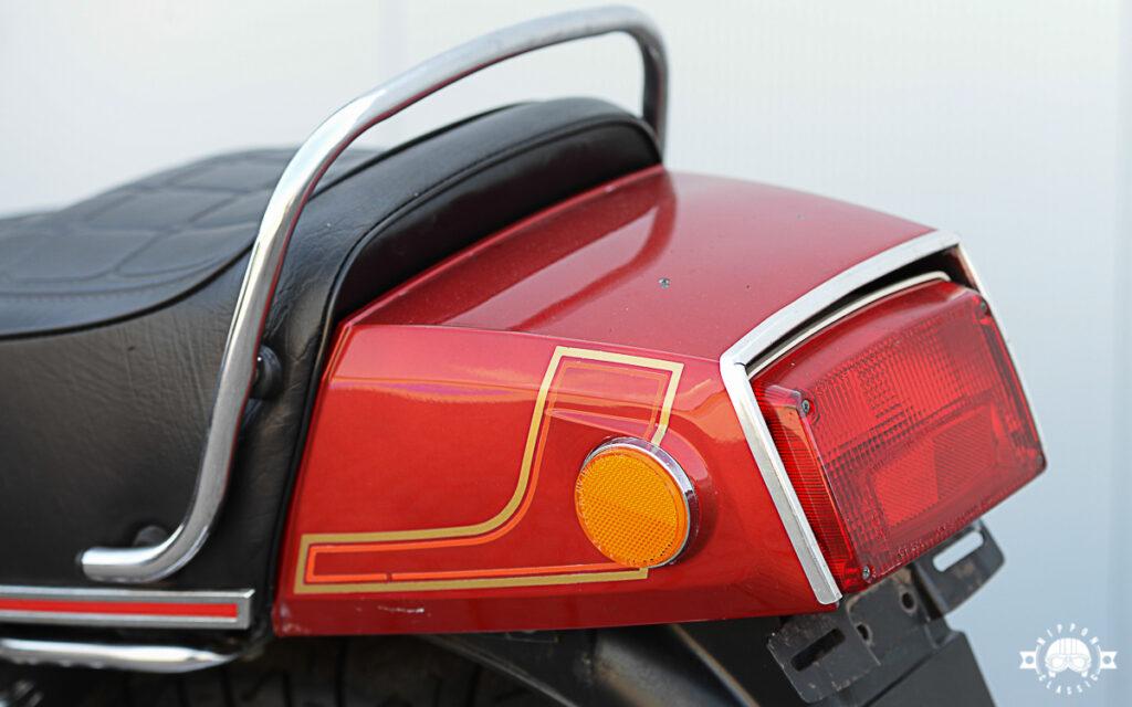 Markantes Heck der Suzuki GS 850