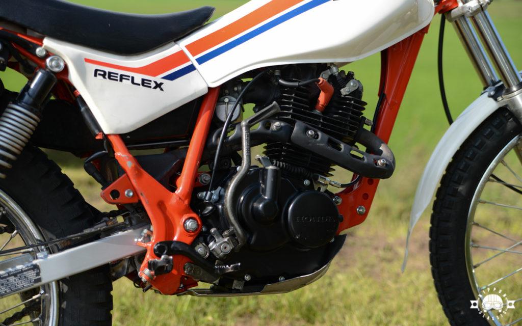 Die Honda TLR Reflex hatte einen Einzylinder-Viertakt-Motor