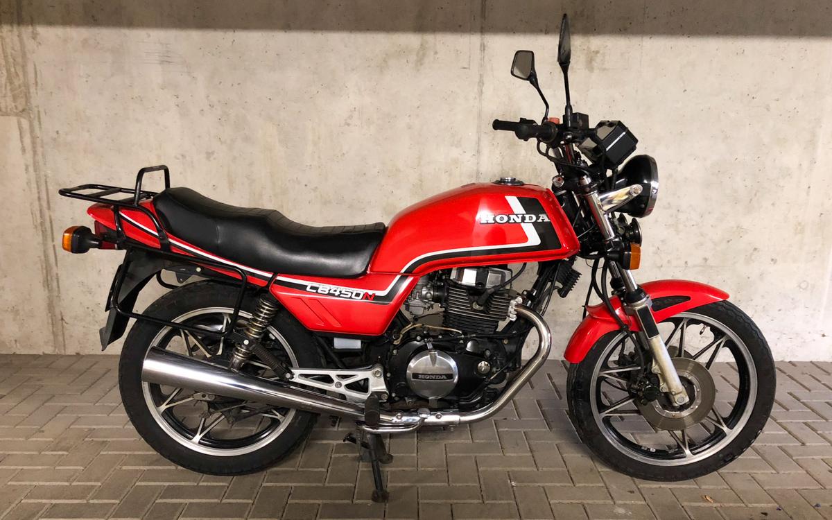 Honda cb 450 n pc 14 1984 1986 gl ckloses mauerbl mchen for Honda classic 2018