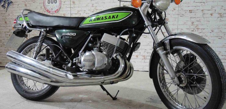 Das Fahrwerk der Kawasaki KH 400 gilt als solide