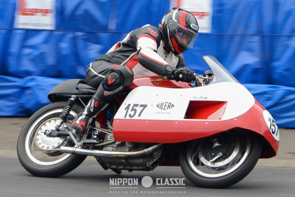 Gilera mit Rennverkleidung beim Schottenring Classic Grand Prix